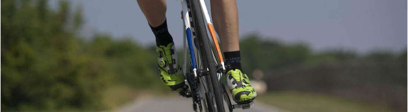 Socks and technical clothing for cycling