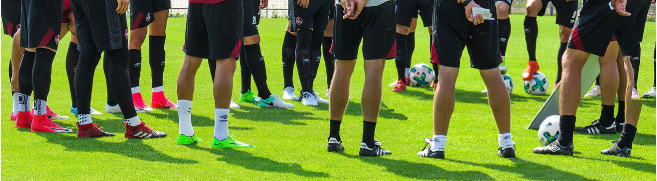 Socks and technical clothing for football